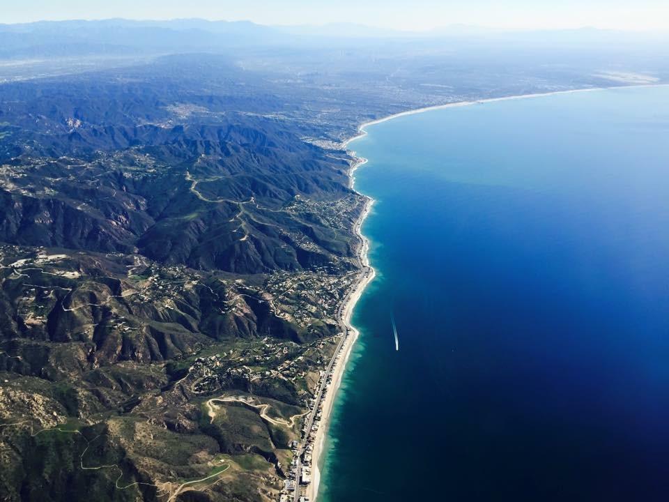 Malibu von oben